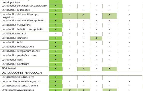 Tabella 2 - Proprietà del kefir